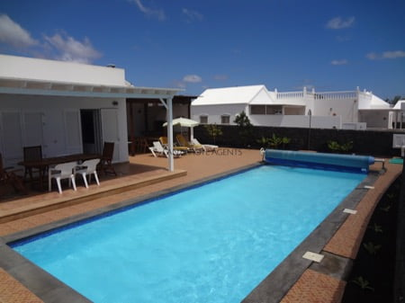 Stunning Four Bedroom Detached Villa In Front Line Complex in Playa Blanca with Private Pool and Great Sea Views