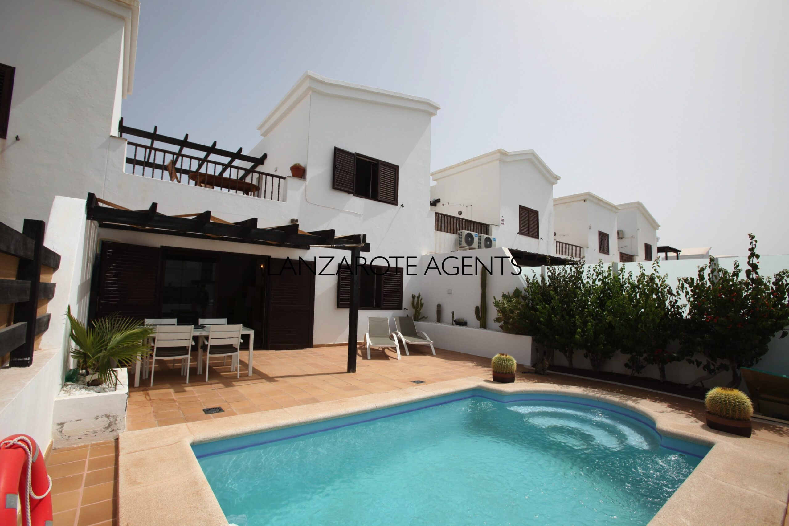 Lovely Semi Detached 2 Bedroom Villa near Marina Rubicon with Private Pool and Some Sea Views