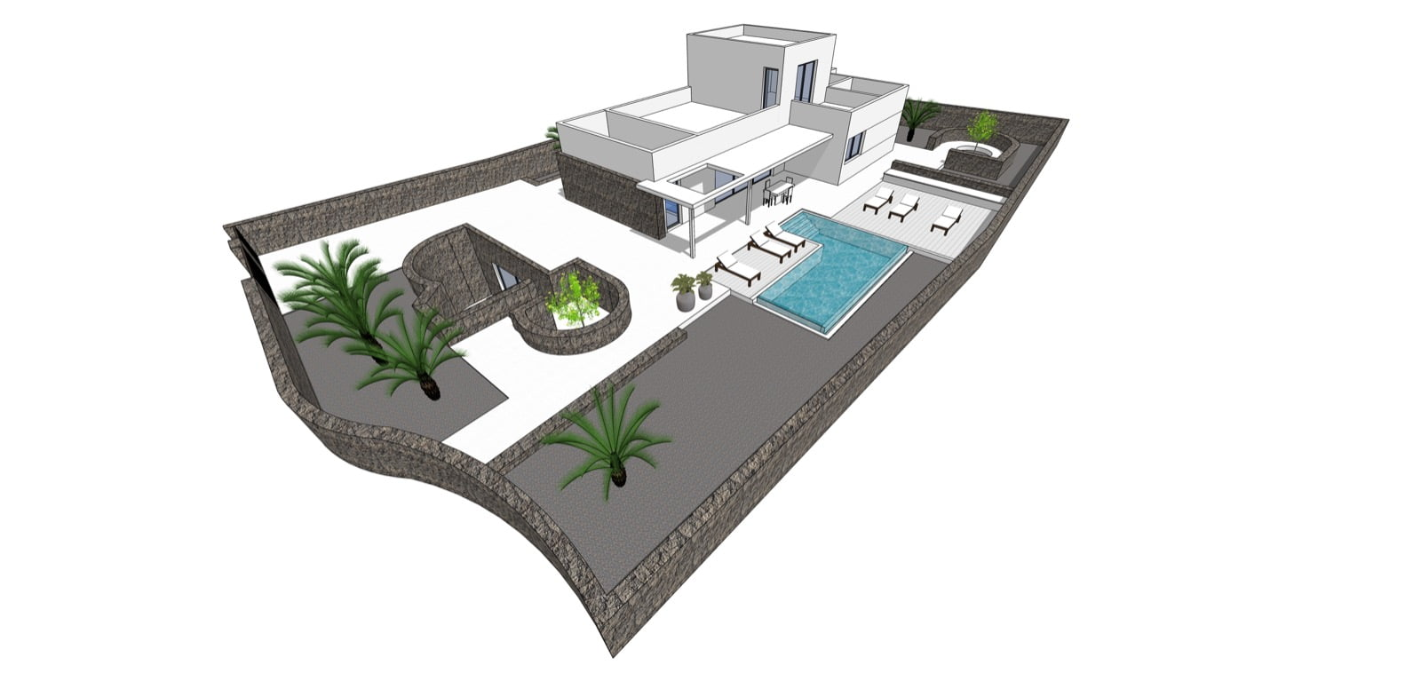 Fabulous Plot to Build a Modern Villa in Costa Teguise Golf Course with Sea Views and Planning Permission